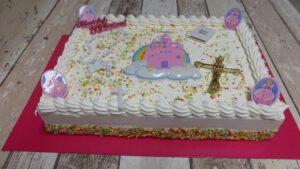 Communie Prinses Amerikaans, foto taartenpagina, taarten, bakkerij rob janssen, elsloo, top taarten, naar wens maken, elsloo, zuid limburg, communie, verjaardag,