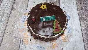 Ganachetaart met Kerstdecoratie, bakkerij rob janssen, taarten, foto pagina, elsloo, Kerstdecoratie