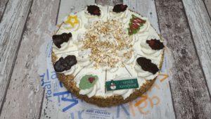 Slagroomtaart met Kerstdecoratie, bakkerij rob janssen, taarten, foto pagina, elsloo, Kerstdecoratie