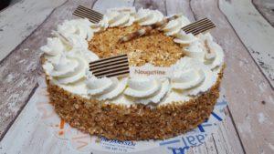 nougatine taart foto taartenpagina, taarten, bakkerij rob janssen, elsloo, top taarten, naar wens maken, elsloo, zuid limburg, communie, verjaardag,