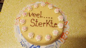 taart veel sterkte, foto taartenpagina, taarten, bakkerij rob janssen, elsloo, top taarten, naar wens maken, elsloo, zuid limburg, communie, verjaardag,