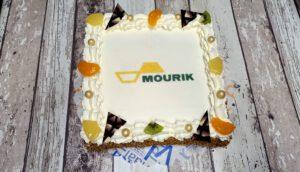 FOTOTAART strak modern, bakkerij rob janssen, elsloo, taarten, strak, slagroom, Zuid Limburg